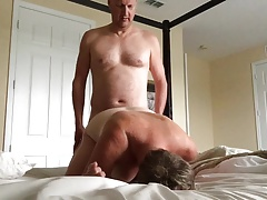 Wife Fucked By Hubby's Friend He Fucks Her In All Holes