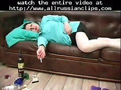 Olga Drinks 2 Russian Cumshots Swallow