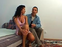 Hot Brunette Babe Loves His Big Cock