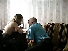 Russian Couple In Action