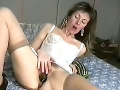 Slut Wife Stretches Her Cunt With An Eggplant