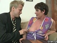 Her Hairy Old Cunt Gets Drilled By Stiff Dick