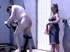 Posh British Mistress Spanks And Wanks Her Domestic Slave