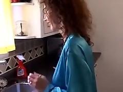Hot Redhead MILF Fucks On The Kitchen