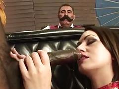 Mil Sucks Black Cock Infront Of Cuckold Husband