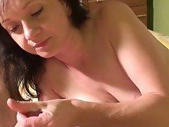 Beautiful Milf Milks His Cock Dry !