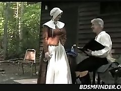 Puritan Wife Spanked Outdoors