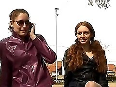 Pair Of Redheads Fucked On The Concrete