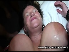 Mature Busty Housewives Bukkake Party