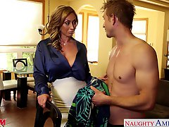 Nasty Mom Eva Notty Fucking Dick With Her Tits