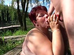 Mature Bbw Outdoors