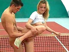 Tennis Chick Fucks Her Teacher Nike Aqua Sock Iv