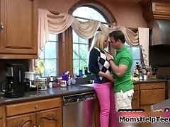 That Young Strong Dude Is So Horny In That Kitchen Whil