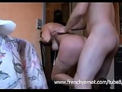 French Mature Fucked By Two Guys And Get Some Hard Anal