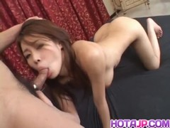 Haruka Busty Has Shaved Crack And Mouth Fucked