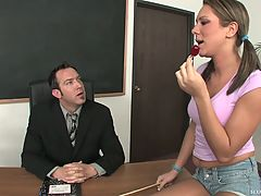 Bad Girl Seduces Her Teacher