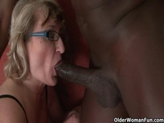 Granny Gets Black Cock Up Her Ass