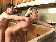 Milf Rammed In Kitchen
