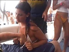 Horny Girl Having Sex To A Stranger In Yacht