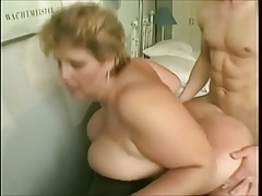 Granny With Big Tits Fucks Young Guy