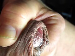 68 Yrold Grandpa #138 Mature Cum Close Closeup Wank Uncut