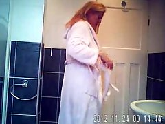 Hidden Cam In Bath Room Finally Caught My Cute Mom Nude !!