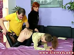 Glamour Babes Trio With Their Stud Eager To Be Blown And Fuc