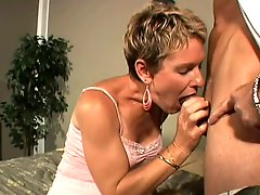 Short Hair Mature With Hairy Pussy