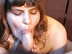 Russian charming amateur blowjob