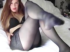 Mature Woman In Black Stockings