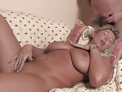Natural busty mature is being fucked