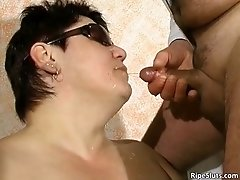 Nasty And Filthy Fat Bitch Getting Piss From Her Doctor