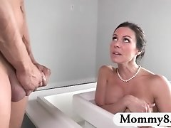Stepmom MILF Kendra Teaches Teen Couple Lessons