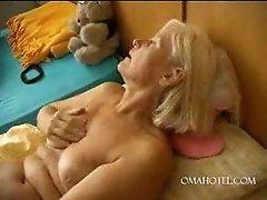 Horny Granny Fucking Dildo