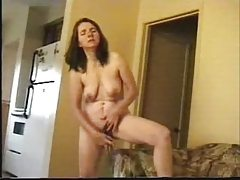 Mature Wife Masturbate Standing In Living Room