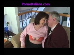 Granny Mature Slut Sucking Cock On Old Cock Vecchia Troia Matura Succhia Cazzo