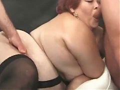 Fat Woman Fucks Two