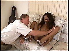 Old White Guy Penetrating Young Ebony Whore