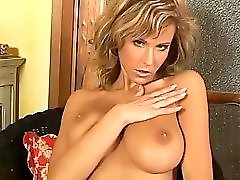 Blonde Milf With A Perfect Body Strips In The Kitchen