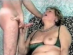 Cumming On Face Of My Old Auntie