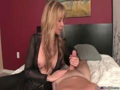 Ov Naughty MILF With Big Tits Handjob