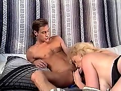 Blonde Whore Takes Cock Down Her Throat While Getting Fucked