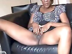 Busty Black Milf From Dateblackmilfs Dot Com Explores Her Sexy Body
