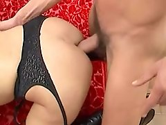 Hairy Italian MILF Gets Assfucked