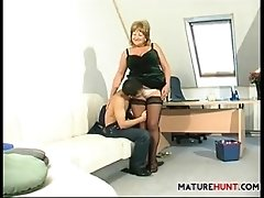Mature Boss Fucking In The Office