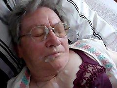 German Granny Cumshot 1