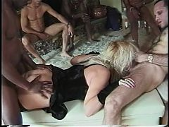 A Voluptuous Blonde Slut Takes A Black Dick In Her Ass