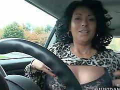Sexy Danica In The Car