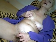 Nasty Old Woman Goes Crazy Rubbing Her Pussy By Oldnann