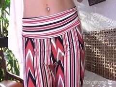 Magic Pants Milf Vicky Vette Gets A Load!